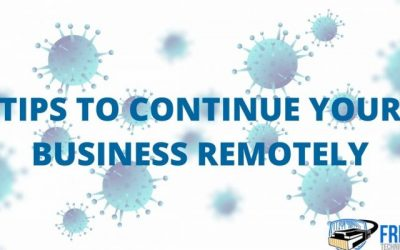 How to continue your business remotely during the COVID-19 pandemic?