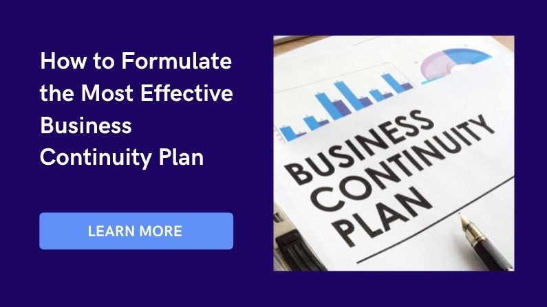 how to formulate the business continuity plan